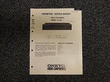 Onkyo P-304 Stereo Preamplifier Service Manual Original OEM