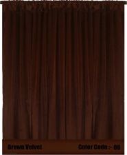 100% Thermal Blackout Energy Efficient Velvet Curtain 8ft-W Saaria Custom Drapes