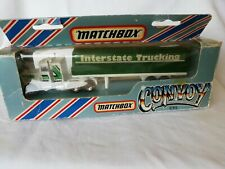 "Matchbox Convoy CY5 Peterbilt Covered Truck ""Interstate Trucking"" - OVP / Box"