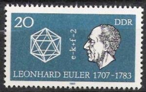DDR Nr.2825 ** Leonhard Euler 1983, postfrisch