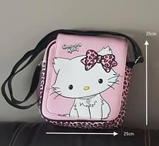 Sac en bandoulière avec rabat noir et rose Charmmy Kitty Hello Kitty neuf