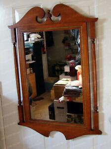 """Vintage T1624 Framed Hanging Mahogany Mirror 34""""x24.5"""""""
