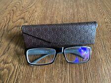 Gucci Men's Eyeglasses GG 1021 KY5 Gray/brown Rectangular Frame Italy 135