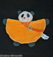 Peluche Doudou Koala Panda Ours Plat Orange ORCHESTRA Demi Lune Etat NEUF