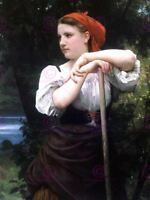 William Adolphe Bouguereau Haymaker Old Art Painting Canvas Art Print