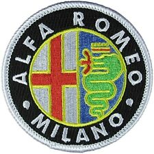 ALFA ROMEO Panno Nero Emblema Badge Patch
