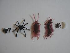 Falso Fly 3 Tipo Araña Cucaracha Larva Joke Broma de caucho plástico Truco De Insectos