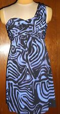 CDC Rampage Dress, New With Tags, Black & Purple, One Shoulder Strap junior sz S