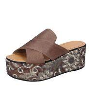scarpe donna ELVIO ZANON sandali marrone pelle BK831