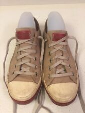 CONVERSE ALL STAR Sneakers Athletic Tan Suede Shoes Women's Sz 8 Vintage Look