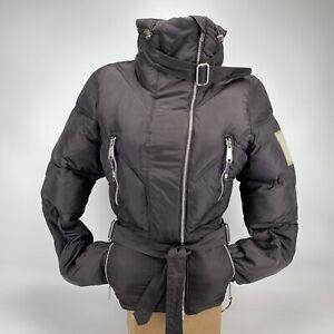 STELLA McCARTNEY x Adidas Black Puffy Bomber Jacket Snow Offset Front Zip SMALL