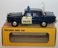 Metosul 1/43 Scale Metal Model - #25 - Mercedes Benz 200 - Policia