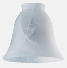 "Westinghouse LAMP SHADE White Glass Bell Shape Scavo Design 1 pk 2.25"" H 8127200"