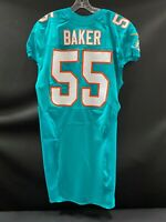 "#55 JEROME BAKER MIAMI DOLPHINS NIKE TEAM ISSUED AQUA ""SAMPLE"" JERSEY NEW STYLE"