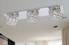 🇩🇪 LED Twister acryl Deckenlampe Deckenleuchte chrom Würfel Spot 3 flammig NEU