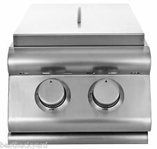 BLAZE GRILLS STAINLESS STEEL BBQ ISLAND / OUTDOOR KITCHEN DOUBLE SIDE BURNER