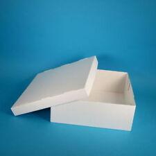 50 Tortenkartons Kuchenkarton weiß 2-teilig 32x32x12cm Wellpappe extrem stabil