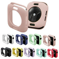 Soft TPU Silicone Bumper Case For iWatch Series 4 5 40mm 44mm Apple Watch Cover