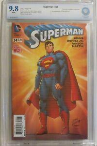 Superman vol 3, #34 - John Romita, Jr. Variant Cover 1:100 - CBCS 9.8 (NOT CGC)