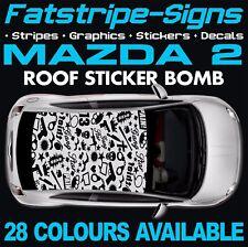 Mazda 2 Pegatinas Calcomanías Gráficos Adhesivo techo bomba 1.3 1.4 1.6 MZR D Demio JAP
