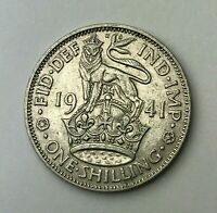 Dated : 1941 - Silver Coin - One Shilling - King George VI - Great Britain