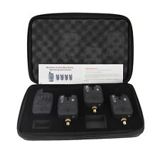 Set of 3 Wireless bite alarms & Receiver. Run LED 3+1 bite alarm set Item specif