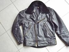 Superb Vintage Lancer Motorcycle Jacket 1950's with detachable fur collar RX