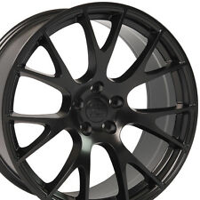 "22"" Hellcat Style Wheels For Dodge Ram 1500 Dakota Durango Black (Rims Set 4)"