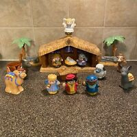Fisher-Price 2005 Little People Musical Nativity Set With Figures Manger