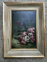 Antique painting Floral Botanical Still Life early 1900's