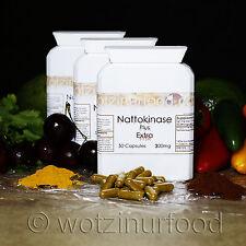 Wotzinurfood Nattokinase + Extra 300mg 6,000FU's Heart Health Genuine JapaneseX3