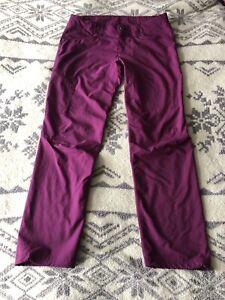 Patagonia Women's Hiking Shell Pants Size 12 Purple EUC