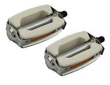 "Dragster Lowrider Bicycle Bike 1/2"" Krate Pedals White"