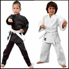NEW Proforce Lightweight 6oz Karate Uniform Gi White or Black with White Belt