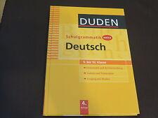DUDEN Schulgrammatik extra DEUTSCH 5. Bis 10. Klasse. Grammatik und Rechtschreib