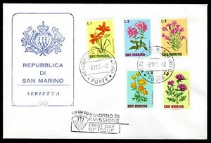 San Marino - 1971 Flowers First Day Cover