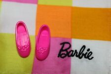 Barbie doll Mattel Stacie and friends hot pink flats shoes flower on toes