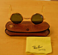 Vintage Bausch & Lomb Cheyenne  Ray Ban Round Metal Tortoise B&L Sunglasses