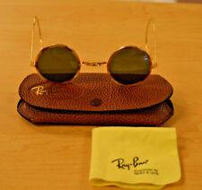 a4c1898d43f Vintage Bausch   Lomb Cheyenne Ray Ban Round Metal Tortoise B L Sunglasses