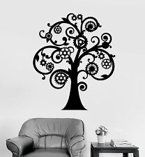 Vinyl Wall Decal Mechanical Tree Steampunk Gears Stickers Mural (ig4187)