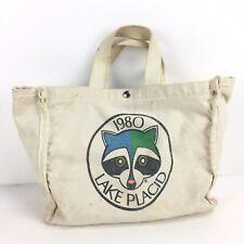 Vintage 1980 Winter Olympics Lake Placid Canvas Bag