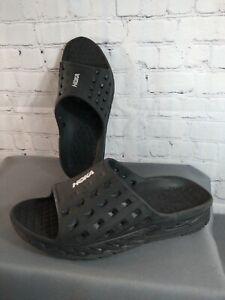 EUC men's HOKA ONE ONE black rubber ORA RECOVERY slide sandals - SIZE 13