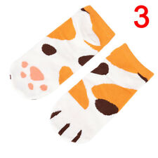 Lady Girl Summer Winter Cartoon Cute Cats Paw Boat Low Cut Ankle Short SocksFEH