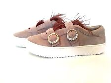 Zara Collection Womens Tan Suede Feathers Platform Sneakers NWT EU 38 US 7.5 cf7008fb5