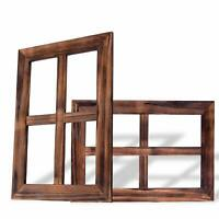 RHF 4 Pane Rustic Wall Decor, Window Frames, Decor for Home,Wall Mounted Signs