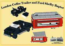 Custom instruction, consisting of LEGO e - London Coffee Trailer and Ford Shelby