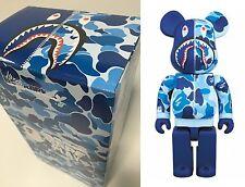 Medicom Toy Be@rbrick Bearbrick BAPE CAMO SHARK Blue 400% Figure WGM ape New