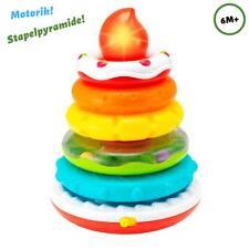 Ringstapler Pyramide interaktiv Babyspielzeug Motorik Lern Spielcenter Rassel DE