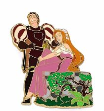 RARE LE 500 JUMBO Disney Pin✿Princess Giselle  Enchanted Prince Robert Flower LE