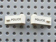 Portes LEGO white doors POLICE ref 3821p02 & 3822p02 / set 6384 Police Station